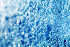 Closeup of frosted glass Stock Photography