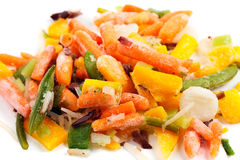 Closeup of frozen vegetables Stock Photo