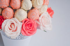 Closeup of fruit bouquet decoration Royalty Free Stock Image