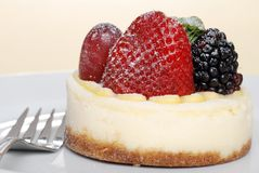 Closeup fruit cheesecake Royalty Free Stock Images