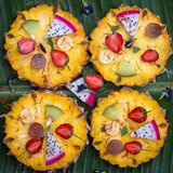 Closeup of fruit pizza Royalty Free Stock Images