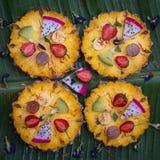 Closeup of fruit pizza Stock Image