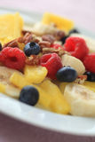 Closeup of fruit plate with summer berries Royalty Free Stock Images