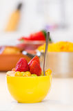 Closeup on fruit salad in kitchen Stock Photography