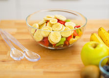 Closeup on fruits salad Royalty Free Stock Photo