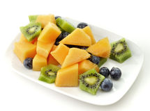 Closeup of Fruits with yogurt Royalty Free Stock Photos