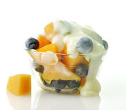 Closeup of Fruits with yogurt Stock Photography