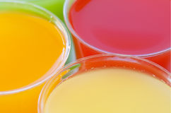 Closeup fruity drinks Royalty Free Stock Photography