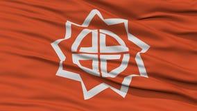 Closeup of Fukushima Flag, Capital of Japan Prefecture Royalty Free Stock Photo