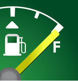 Closeup Full eco green gas tank. Detail illustration Royalty Free Stock Photo