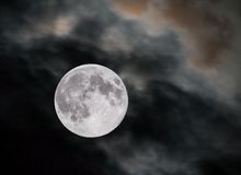 Closeup of full moon Stock Photo