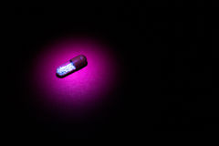 Closeup of Full Single Pill Capsue Royalty Free Stock Images