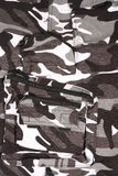Closeup full white pocket  camouflage pants / shor Royalty Free Stock Photo