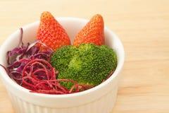 Closeup fusion food salad. For good health stock image