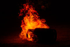Closeup gas explosionFire background Royalty Free Stock Image