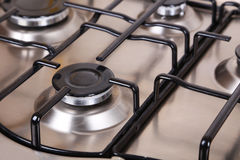 Closeup the gas stove, metal, Stock Photography
