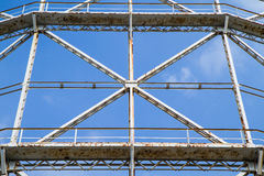 Closeup gasometer and rusty metal disused Royalty Free Stock Image