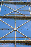 Closeup gasometer and rusty metal disused Stock Image