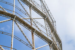 Closeup gasometer and rusty metal disused Royalty Free Stock Photography
