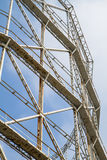 Closeup gasometer and rusty metal disused Stock Photography