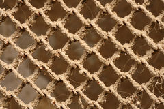 Closeup of gauze. With sand Royalty Free Stock Photography