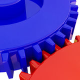 Closeup gear background Stock Image