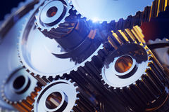 Closeup gear wheels Royalty Free Stock Images