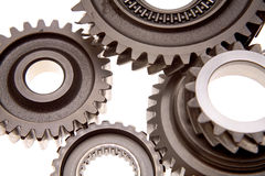 Closeup of gears Royalty Free Stock Image