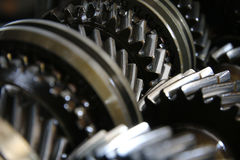 Closeup on gears of auto transmission gearbox - Series 5 Royalty Free Stock Photography