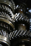 Closeup on gears of auto transmission gearbox - Series 4 Royalty Free Stock Images