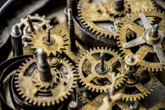 Closeup of gears and cogs clockwork Royalty Free Stock Photo