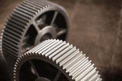 Closeup gears Royalty Free Stock Images