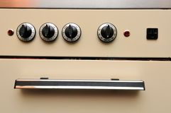 Closeup of generic oven Stock Photography