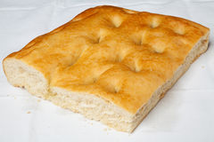 Closeup of genoese focaccia. Royalty Free Stock Photos