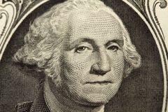 Closeup George Washington on Dollar Bill Stock Image