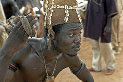 Closeup of a Ghanaian spiritual dancer, Shaman Stock Photography