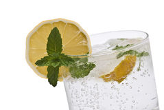 Closeup from a gin tonic. Stock Photography