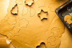 Closeup of gingerbread cookies for Christmas Stock Image