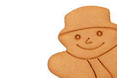 Closeup Gingerbread snowman Royalty Free Stock Photo