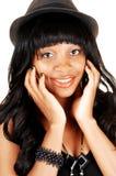 Closeup of girl with hat. Stock Photos