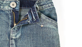 Closeup girl jean pocket Royalty Free Stock Image