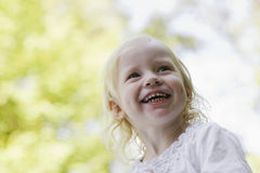 Closeup Of Girl Laughing Outdoors Stock Photos