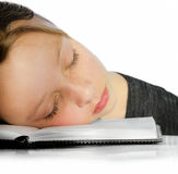 Closeup of girl sleeping Stock Photo
