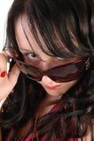 Closeup of girls head. royalty free stock image