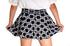 Closeup of girls skirt. royalty free stock photo