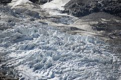Closeup of glacier Stock Images