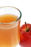 Closeup glass of apple cider Stock Photography
