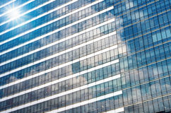 Closeup glass of Modern business building skyscrapers, Business Royalty Free Stock Photography