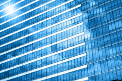 Closeup glass of Modern business building skyscrapers, Business Royalty Free Stock Photos