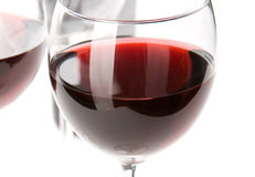 Closeup on glass of red wine Stock Photo